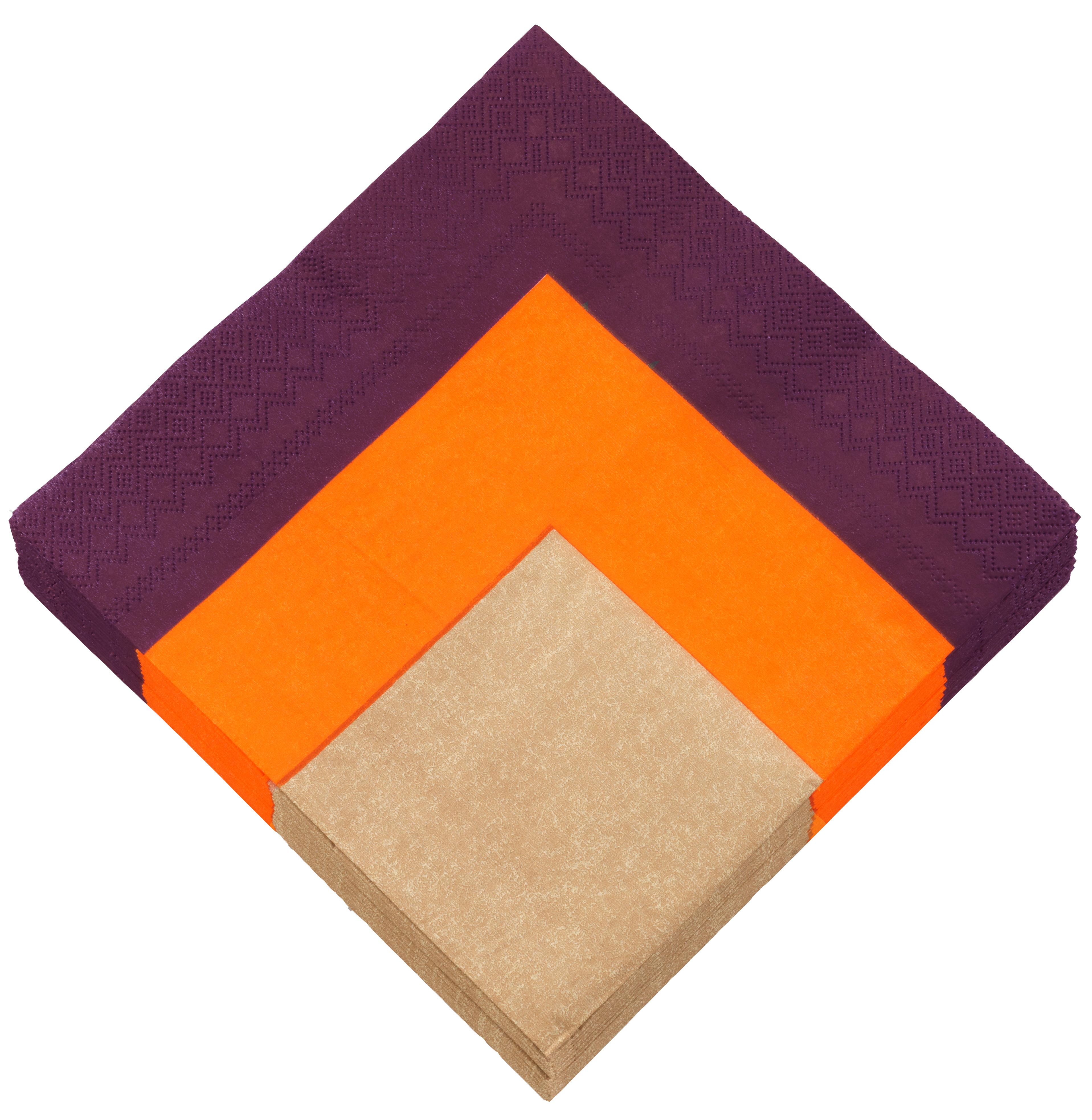 dinner serviette aubergine mandarine sahara daff filz. Black Bedroom Furniture Sets. Home Design Ideas