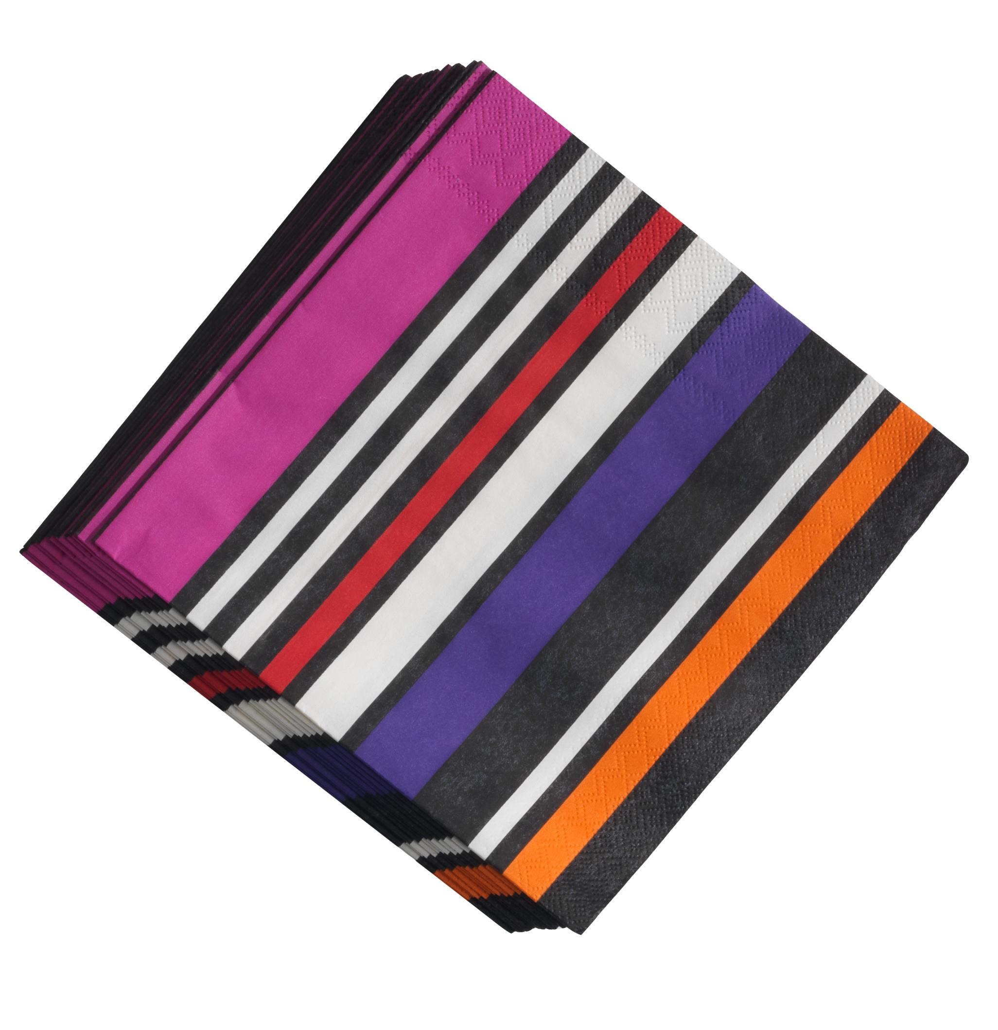 dinner serviette streifen feuer pink lavendel mandarine. Black Bedroom Furniture Sets. Home Design Ideas
